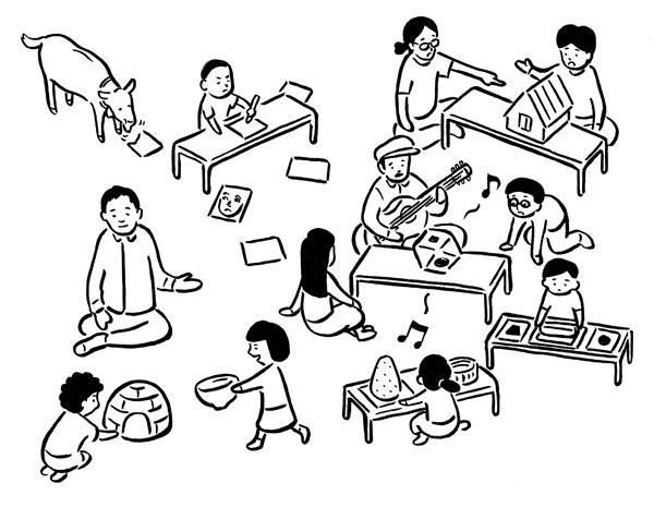 2014/9/3〜7 馬木の寺子屋 -真夏の親子課外授業-「聴く」ことにまつわる観察から創造へのワークショップ@[小豆島]馬木地区